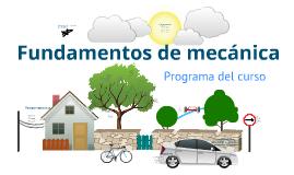 Programa curso Fundamentos de Mecánica