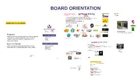 Board Orientation Fall 2016