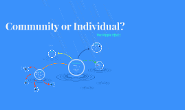 Community or Individual?