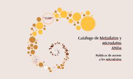 Catálogo de Metadatos y microdatos