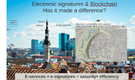 Electronic signatures and blockchain in land register management