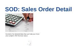 SOD: Sales Order Detail