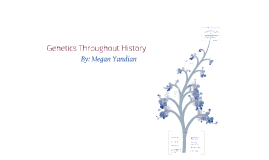 Copy of Genetics Throughout History