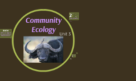 Unit 3: Community Ecology