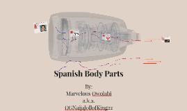 Spanish Body Parts
