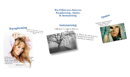 Paraphrasing, Quotes & Summarizing