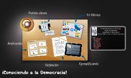 Conociendo la democracia