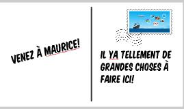 L'ile Maurice