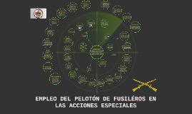 EMPLEO DEL PELOTÓN DE FUSILÉROS EN LAS ACCIONES ESPECIALES