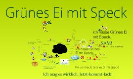 Herr Dr Seuss- Grünes Ei mit Speck.