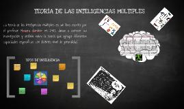 Copy of Teoría de las Inteligencias Múltiples de Howard Gardner