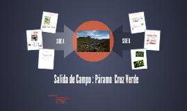 Salida de Campo : Páramo  Cruz Verde