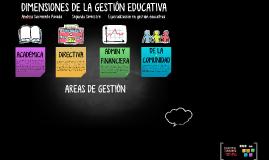 DIMENSIONES DE LA GESTIÓN EDUCATIVA