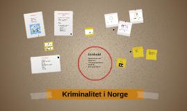 Kriminalitet i Norge