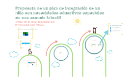 Propuesta de un plan de Integración de un niño con necesidad