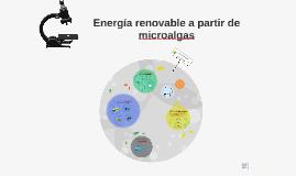 Energia renovable a partir de microalgas