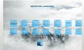 Harold Pinter: Mountain Language