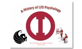 A History of I/O Psychology