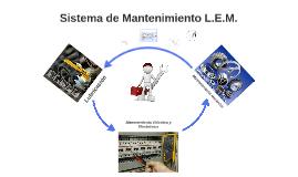 Sistema de Mantenimiento L.E.M.