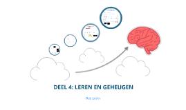 Leren en geheugen