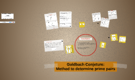 Goldbach Conjeture: Method to determine prime pairs