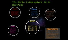 VIOLENCIA PSICOLOGIOCA EN EL NOVIAZGO.