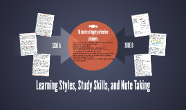 Learning Styles, Study Skills, and Note Taking