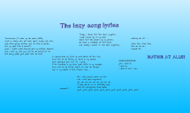 the lazy song lyrics