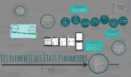 Les elements des Etats financiers