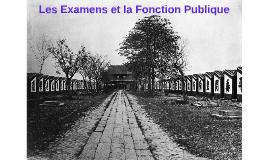 Les Examens et la Fonction Publique