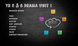 Y5and 6 Drama Unit 1
