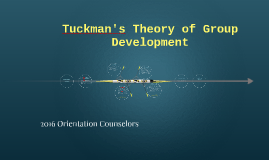 Copy of Tuckman's Theory of Group Development