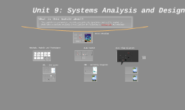 Unit 9: Systems Analysis and Design