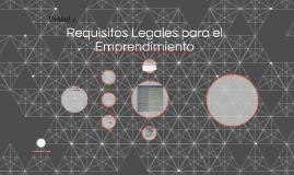 Requisitos Legales para el Emprendimiento