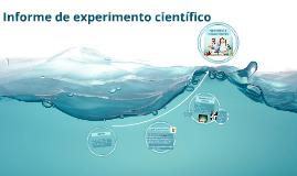 Informe de experimento científico