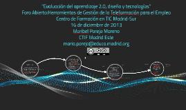 Evaluación del aprendizaje 2.0, diseño y tecnologías