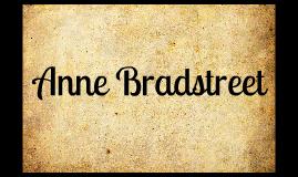 Anne Bradstreet: American Poet