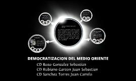 DEMOCRATIZACION EN EL MEDIO ORIENTE