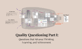 Copy of Questions that Advance Thinking, Learning and Achievement