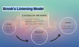 Brook's Listening Model