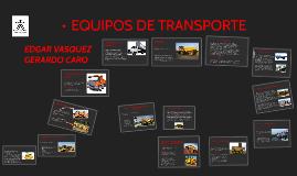 EQUIPOS DE TRANSPORTE