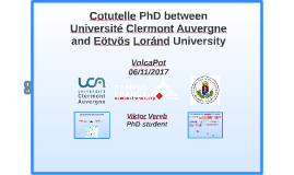 Cotutelle PhD UCA - ELTE