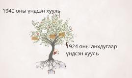 1924 оны анхдугаар үндсэн хууль
