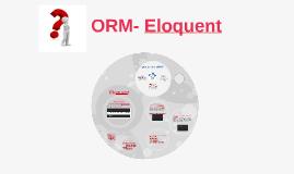 ORM- Eloquent