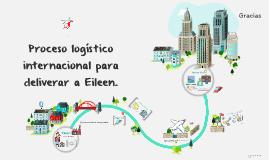 Proceso logístico internacional para deliverar a Eileen.