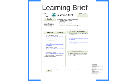 Learning Brief - as an innovative learning tool