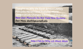 Thoughts on Why the Earth Science Literacy Principles Haven'