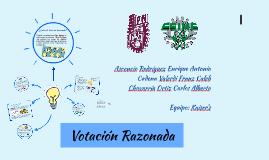 Vocation Razonada (MULTIVOTING)