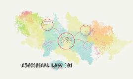 Aboriginal LAw 101
