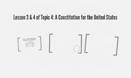 Lesson 3 & 4 of Topic 4: A Constitution for the United State